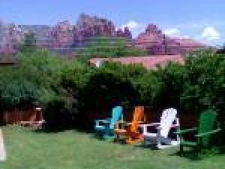 Sedona house photo - Mountain View from backyard