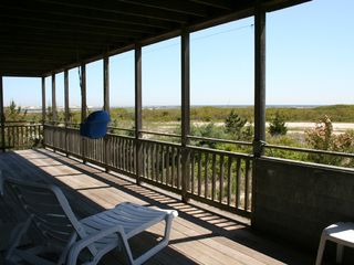 Downstairs deck and views - Barnegat Light house vacation rental photo