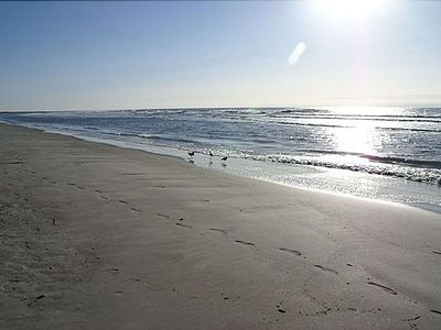 Fripp Island beach within 200 ft, sandy beach 24 hours a day