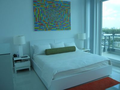 Miami Beach apartment rental - Master Bedroom
