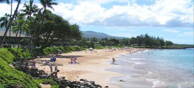 Kamaole II Beach near Condo, One of the finest white sand beaches in Maui!
