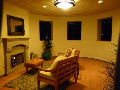 Enter your Separate Guestroom through your Fireplace Loggia Entrance w/Golf Vu