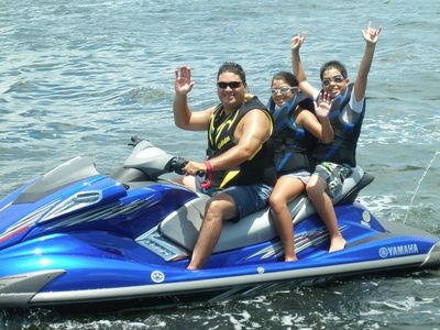 Dad and the kids love to Jet Ski