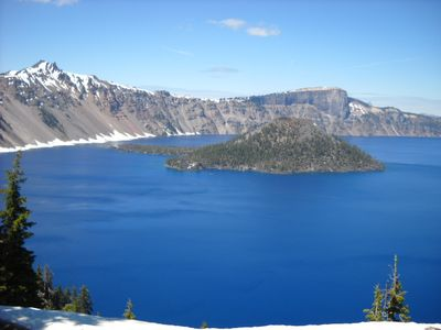 Crater Lake National Park - an 80 mile drive away