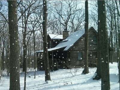 There is Nothing More Special that being At the Cabin When it Snows !!!