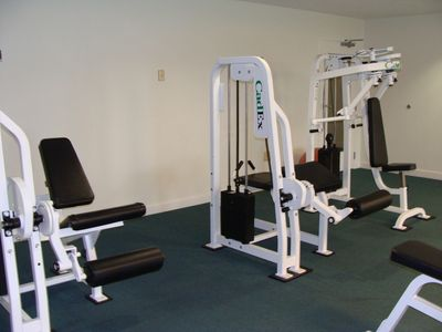 large exercise/weight room