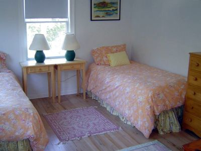 Guest Bedroom with Twin Beds, Children's Books and Toys
