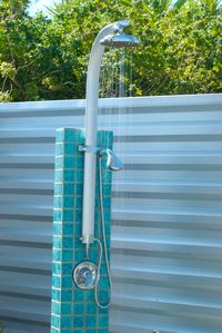 Shower outdoors in complete privacy!