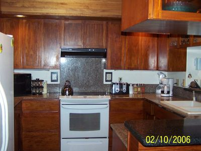 Anini Beach house rental - Kitchen from east