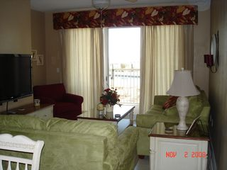 Fort Walton Beach condo photo - Living Room door leads to private patio & direct access to pool & beach