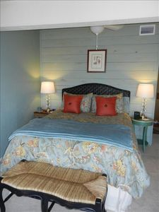 Master Bedroom with view of marina and Little Bay