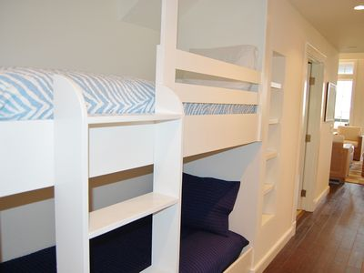 Bunks in hall. Full size and sleeps 2 comfortably