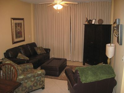 Family Room w/ 32 inch flat screen TV, VCR & DVD player and recliner