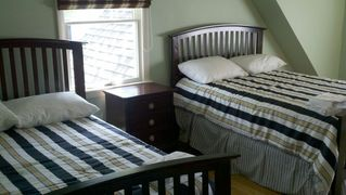 "Old Saybrook house photo - Upstairs Bedroom with 2 Full Bed and a 32"" inch Flat screen TV"