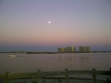 Perdido Pass at Dusk - Unbelievable Colors & Moon