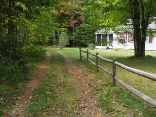 North Conway house photo - Path to Echo Lake is right next to the house!