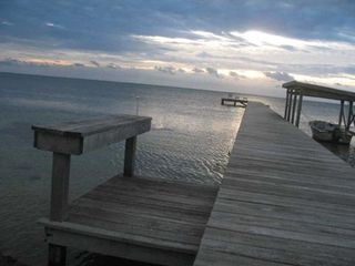 Ambergris Caye house photo - Early Morning on the Dock
