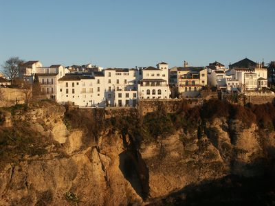 The cliff at Ronda , 75 mins drive from Duquesa
