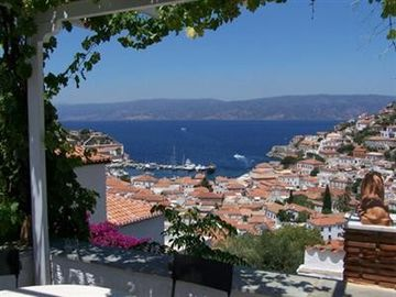 View of Hydra Harbour from the house