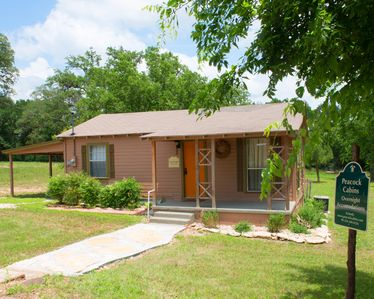 Can Do Cabin is a 2 bdr, 1 bth home adjacent to Peacock River Ranch
