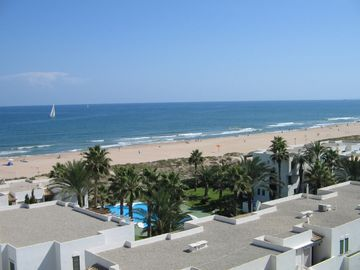 Xeraco apartment rental - Xeraco Beach from Balcony of Tabarka 7D