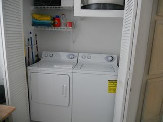 North Padre Island condo photo - Full size Washer and Dryer