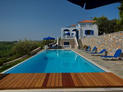 Aegean Blue Villa   spectacular family accomodation