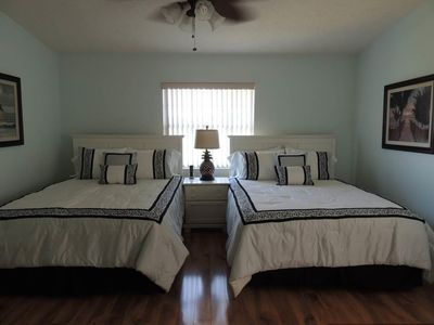 Second Upstairs Bedroom with queen size beds