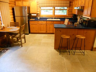 Blue River cabin rental - Kitchen and Dining