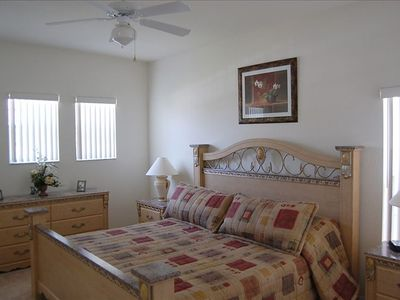 Champions Gate villa rental - Master Bedroom Two also with 7 foot by 7 foot king size bed