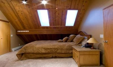 Another Master Bedroom and Full Bath with cool skylights!