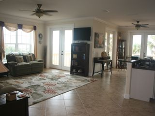 "Flagler Beach house photo - Relax with our 54"" HDTV or our new WiFi internet service."