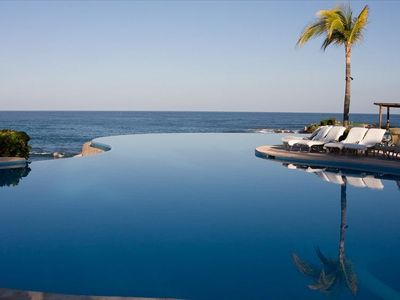 Infinity pool at the resort.