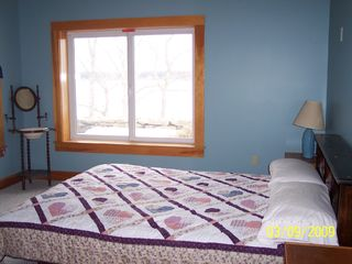 Westport Island house photo - Bedroom with queen size bed