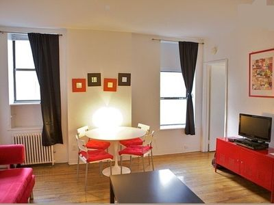 Midtown Manhattan apartment rental - One bedroom_Living room (apt3B)