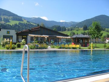 Local outdoor pool in Leogang