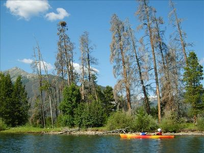 Walk to Frisco Marina and rent a kayak or canoe to explore the lake