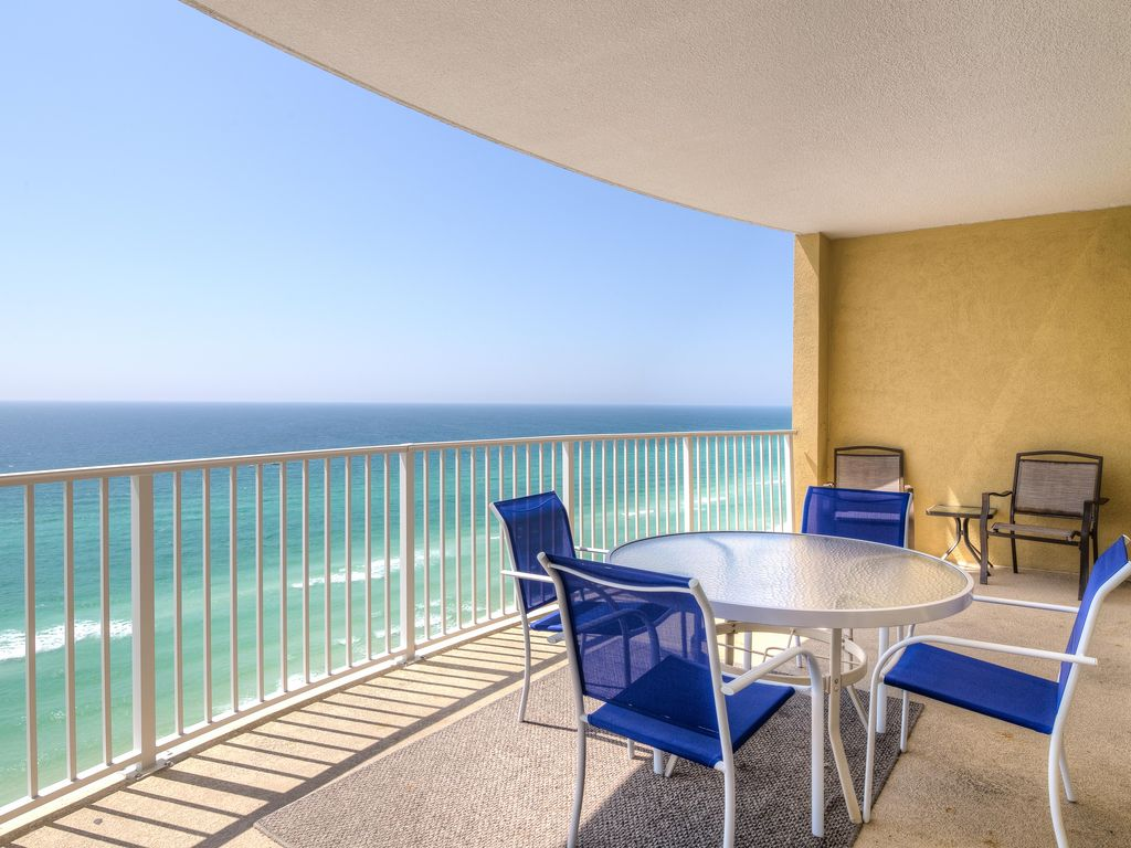 2br 2ba Panama City Beach Condo On Beach Vrbo