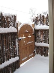Santa Fe townhome photo - Entry Gate on Christmas Day.