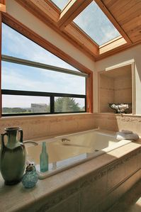 Master Bath w Ocean View Tub and Glass Shower