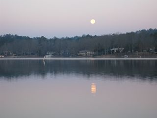 Hot Springs Village house photo - The full moon on Lake Desoto is visible from the deck at the house at evening.