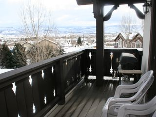 Midway condo photo - Balcony view in winter, Heber Valley view to east.