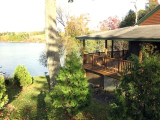 Bridport house photo - Wrap around deck overlooking lake