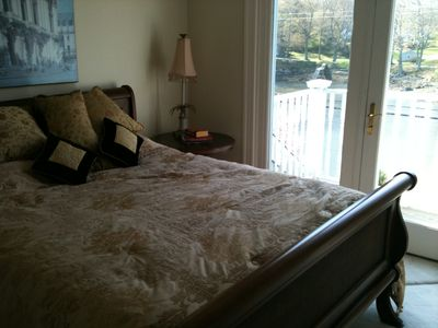 2nd Bedroom w/ Queen bed and deck overlooking Chauncey Creek