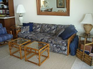 Napili condo photo - Living room, sofa opens to a bed.