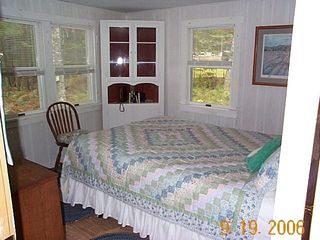 Grand Lake Stream cabin photo - Back Queen Bedroom