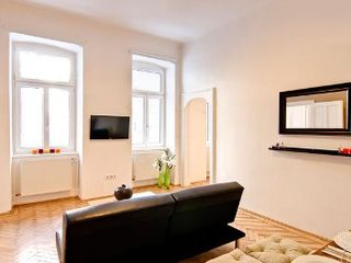 Innere Stadt apartment photo - Very quiet Living room windows facing a courtyard