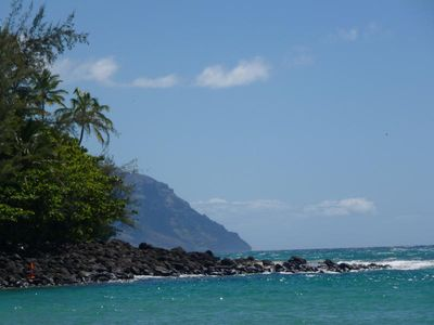 Reef Bordering Ke'e Beach, the last beach on the North Shore-fabulous snorkling!