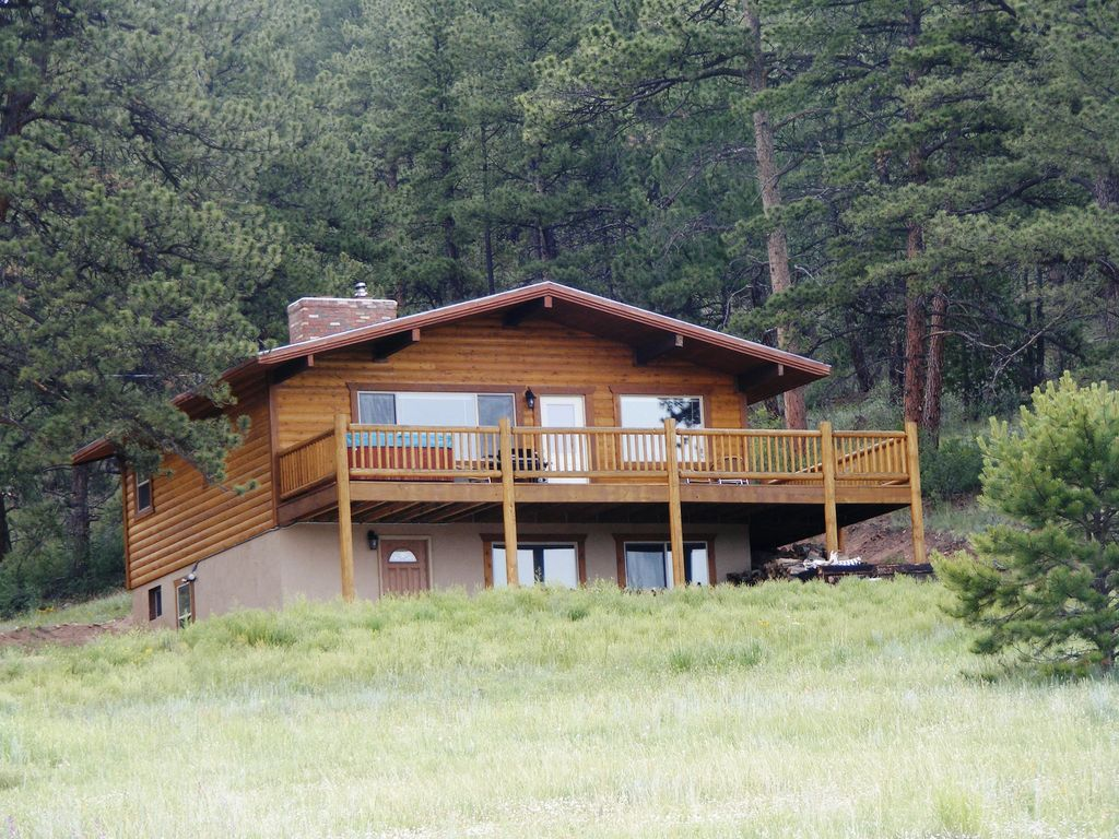 Secluded Mountain Cabin Hot Tub Mountain Views Vrbo