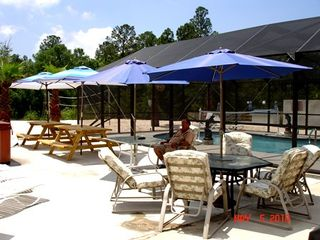 Gulf Shores house photo - Have a cookout on this large patio with a large charcoal grill